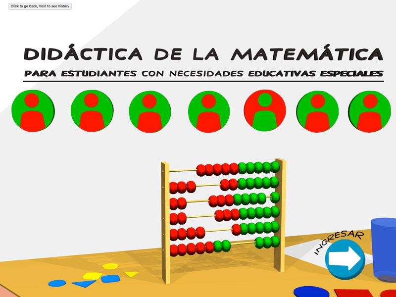 Detalle de Didáctica de la matemática para estudiantes con necesidades educativas especiales