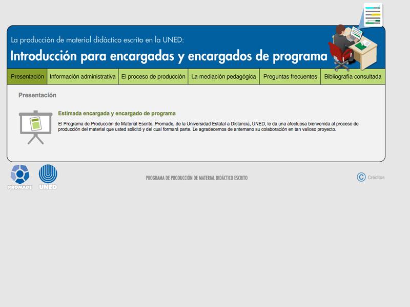 Detalle de Introducción para encargadas y encargados de programa