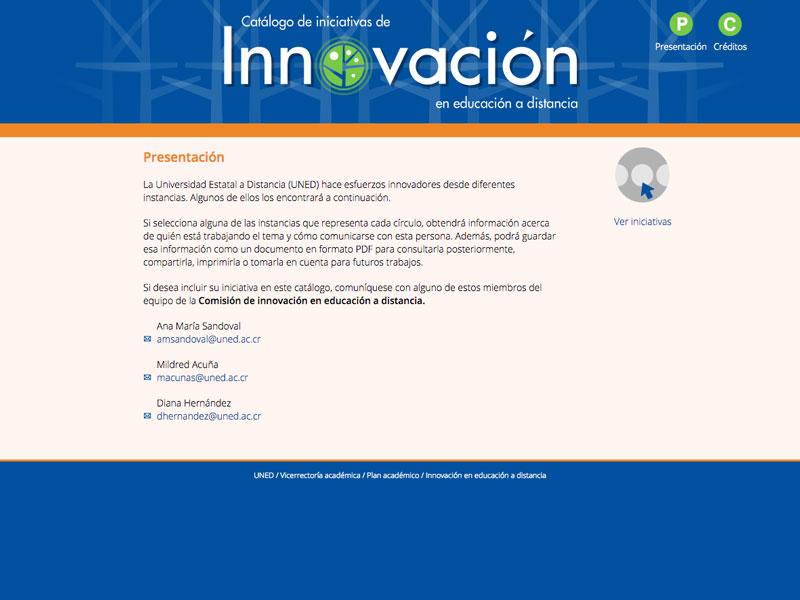 Detalle de Catálogo de iniciativas de innovación en educación a distancia