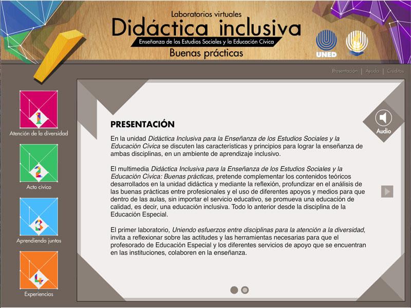 Detalle de Didáctica inclusiva para la enseñanza de los Estudios Sociales y la Educación Cívica: buenas prácticas