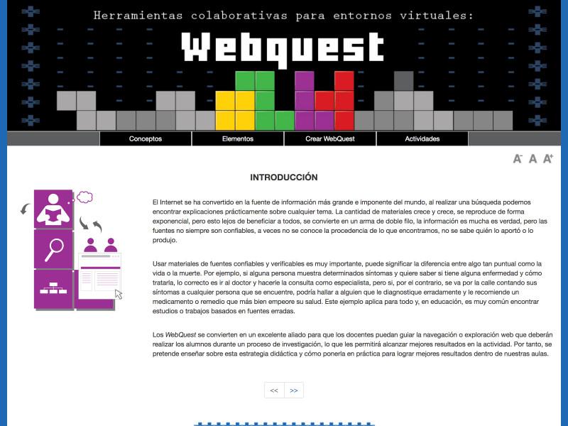 Detalle de Webquest. Herramientas colaborativas para entornos virtuales