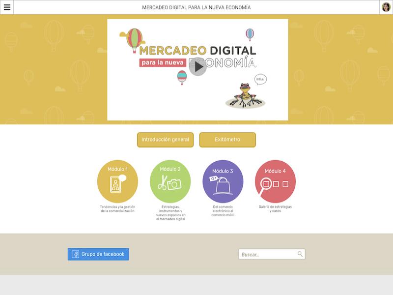 Detalle de Mercadeo digital para la nueva economía